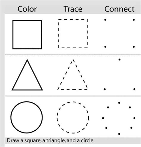 C Drawing Shapes practice drawing shapes preschool activities