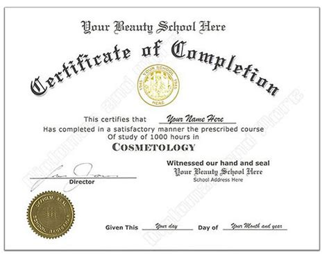 Fake Diploma Certificate Free Download Printable Receipt Template Free Business License Template