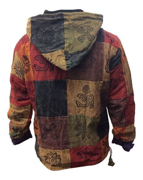 Patchwork Mens - mens multicoloured hippy patchwork pullover fleece