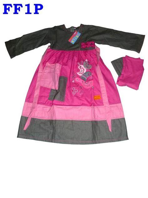 Gamis Katun Slub baju muslim anak perempuan gamis anak cantik juli 2013