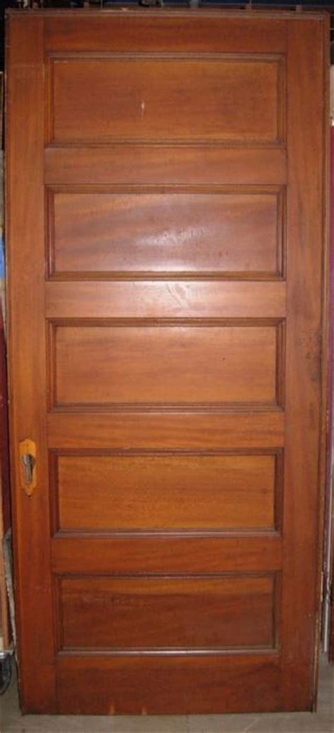5 Panel Interior Wood Door House Parts Company Architectural Salvage Antique Windows And Doors And Hardware For