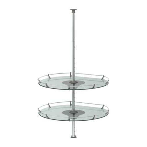 Corner Cabinet Carousel by Rationell Wall Corner Cabinet Carousel