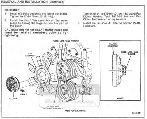 how to remove fan clutch ford powerstroke fan clutch removal