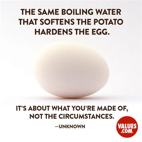 potato quotes the same boiling water that softens the potato hardens