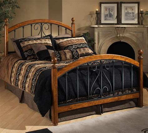 wood and metal headboard and footboard 430