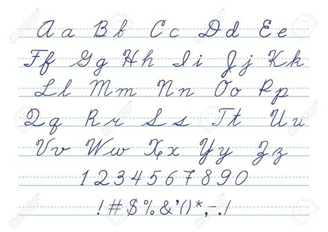Pictures Of Cursive