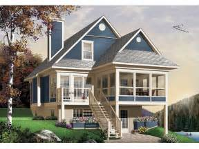 Home Plans For Sloping Lots by Plan 027h 0141 Find Unique House Plans Home Plans And