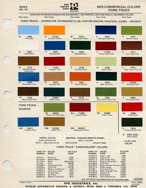 broncos colors color chart 75 classic bronco build ford bronco