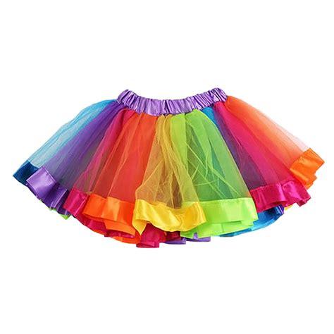 colorful tutu baby lovely colorful tutu skirt rainbow tulle
