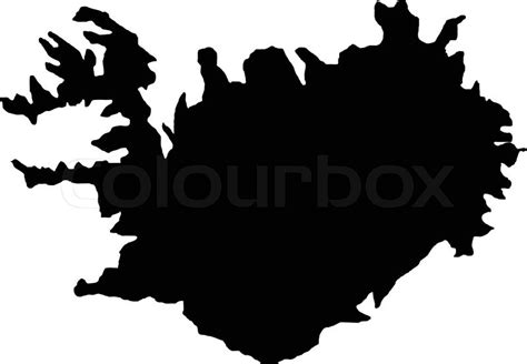 iceland map vector vector illustration of maps of iceland stock vector