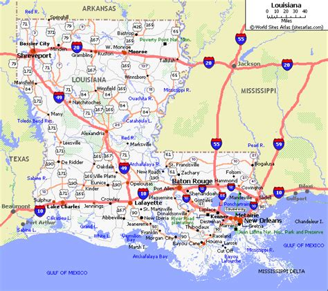 map of texas louisiana and mississippi louisiana maps and state information