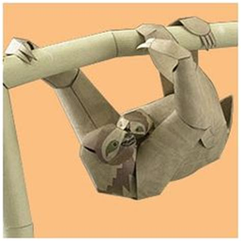 Origami Sloth - loris other animals animals paper craft canon