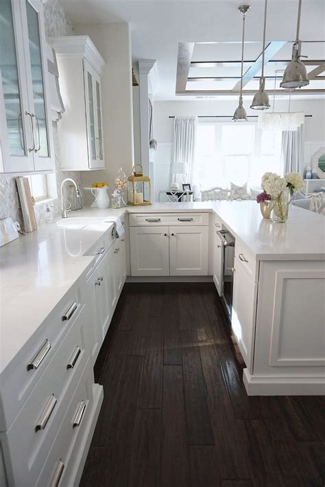dark floors white cabinets white kitchen dark floors interior design