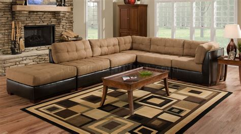 9 Piece Formal Dining Room Sets camel fabric sectional sofa w dark brown faux leather base