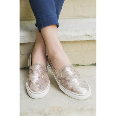 Sepatu Keds 1 sepatu keds leather sequin size us5 5 elevenia