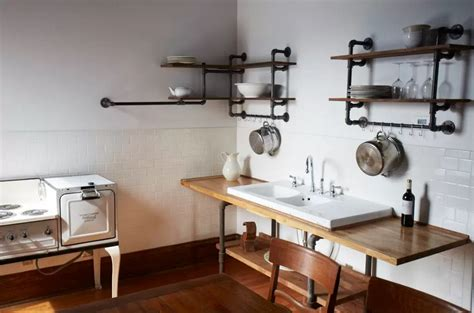Plumbing Pipe Projects by This Look Hudson Milliner Kitchen In New York