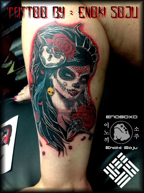 dead rose tattoos dead tatoo s day of the dead with roses