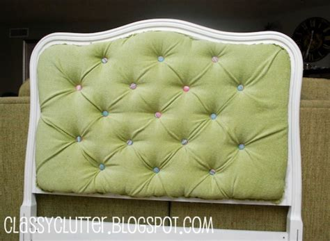 diy headboard tutorial diy upholstered tufted headboard tutorial classy clutter