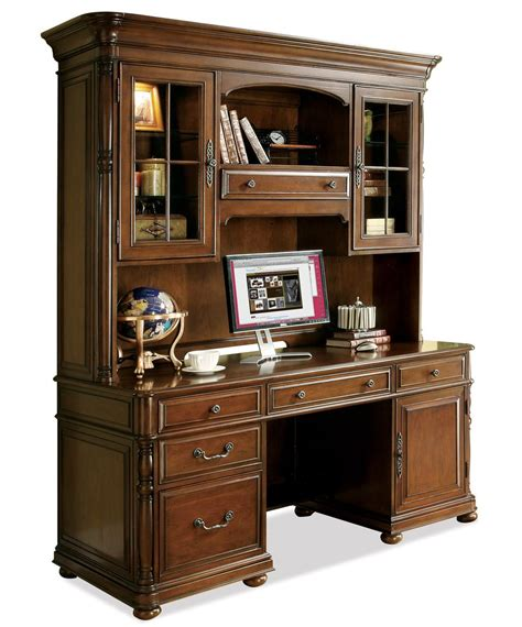furniture desk with hutch large office computer desk and hutch by riverside