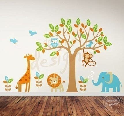 jungle stickers for nursery walls safari playland nursery wall sticker mural
