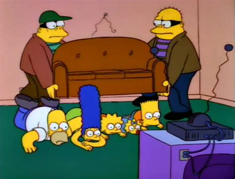 simpsons couch gags robbed couch couch gag simpsons wiki