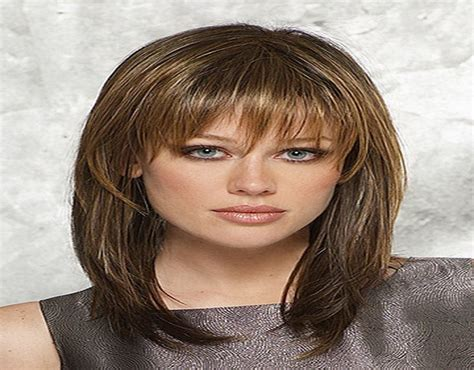 shoulder length haircuts with bangs medium style haircuts with bangs medium length haircuts