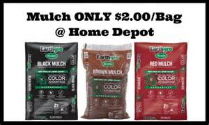 home depot scotts earthgro mulch for only 2 00 per bag
