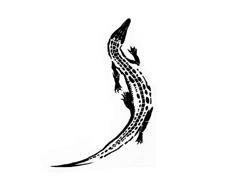 tribal crocodile tattoo slim type of crocodile design ideas