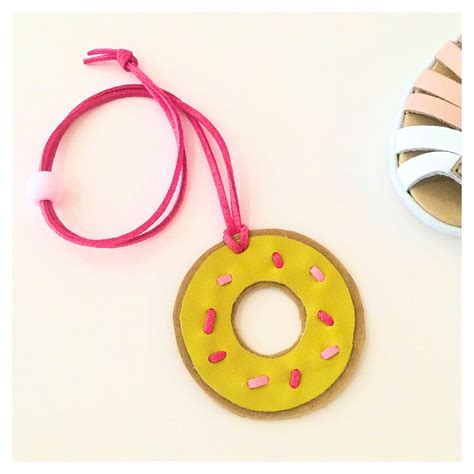 Donat Leather donut leather necklace
