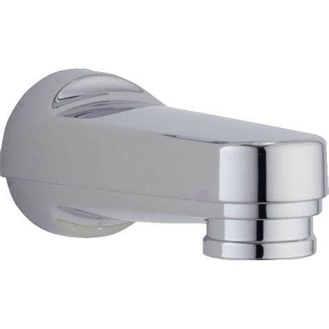 delta bathtub spout delta pull down diverter tub spout in chrome rp5836 the