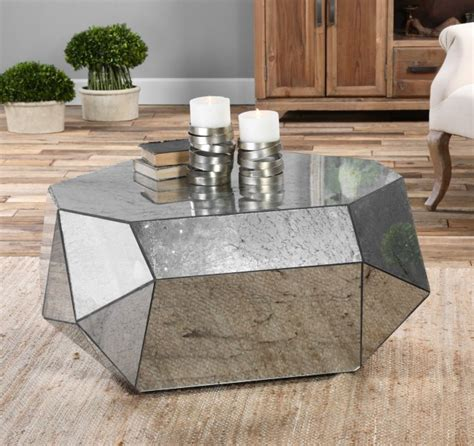 modern mirrored coffee table 9 geometric coffee tables to perfectly align your