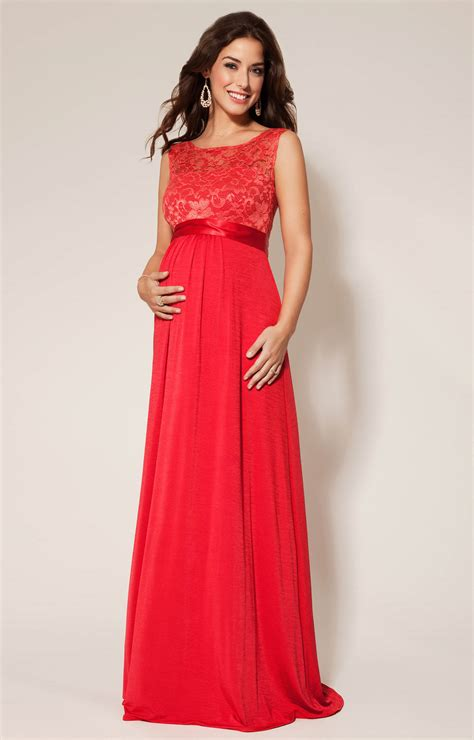 maternity party dress long valencia maternity gown long sunset red maternity