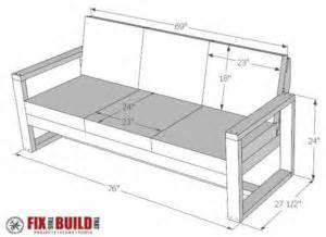 Outdoor Loveseat How To Build A Diy Modern Outdoor Sofa Fixthisbuildthat