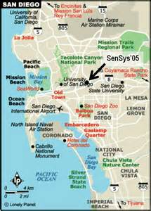 San Diego Hotel Map by Hotel And Travel Sensys 2005
