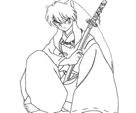 inuyasha coloring pages inuyasha color pages az coloring pages