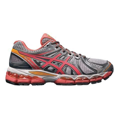 womens asics gel nimbus 15 running shoes white coral ebay