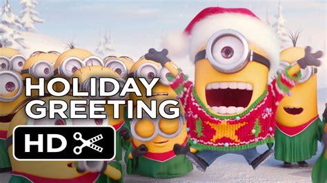 minions holiday greeting   hd youtube