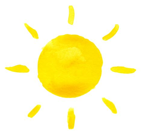 Lemon Yellow Color by 10 Watercolor Sun Png Transparent Onlygfx Com