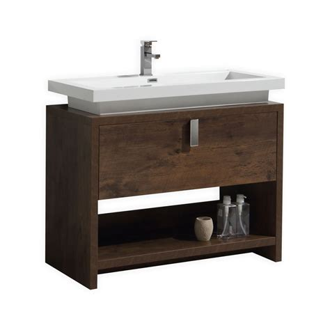 Modern Wood Bathroom Vanity Levi 40 Quot Wood Modern Bathroom Vanity W Cubby