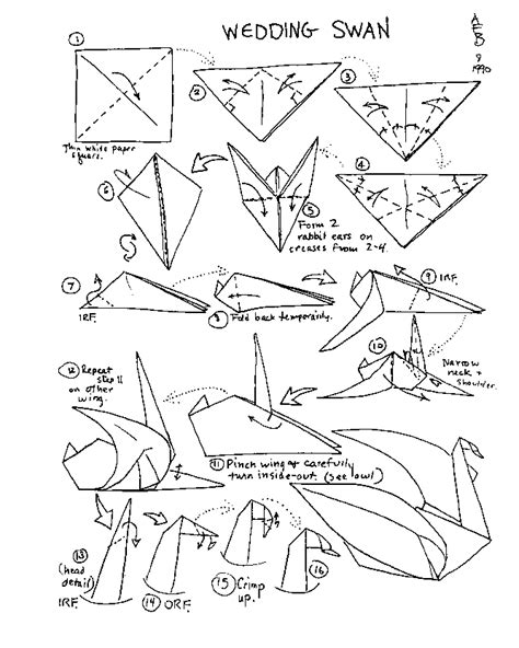 Origami Swan Diagram - barbour origami