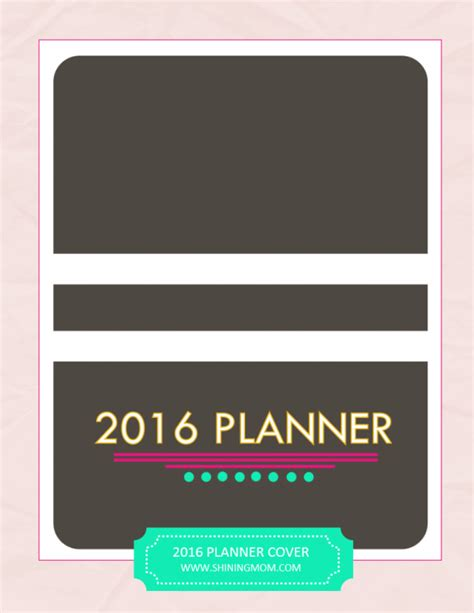 printable planner cover 2016 free printable calendars crafting in the rain