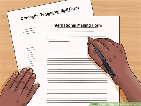 how to send letter how to send a registered letter 11 steps with pictures
