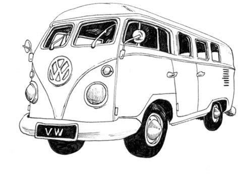 volkswagen van drawing cer van 101 weekend adventures