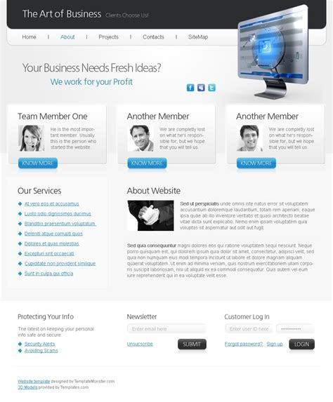 Free Html5 Website Template Art Of Business Html5 Business Website Templates Free