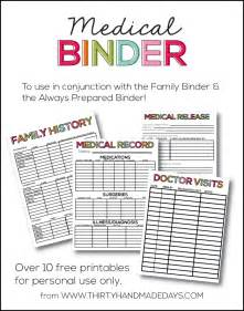 Super helpful medical binder with 10 free printables to add to your