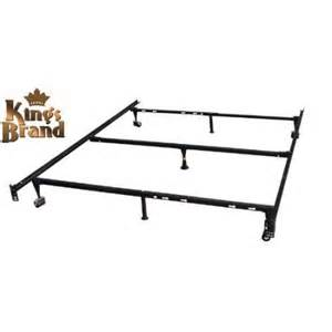 Brand Bed Frame Brand Furniture 7 Leg Adjustable Metal Bed Frame With Center Support Rug Rollers And