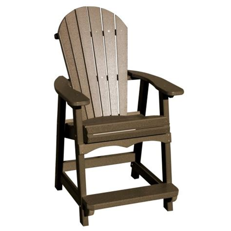 Adirondack Bar Chairs by Vifah V1086 Ww Recycled Plastic Adirondack Bar Chair