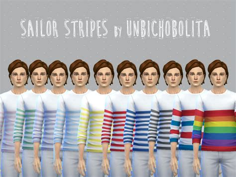 sims 4 cc male geek shirts my sims 4 blog sailor stripes shirts and nerdy outfits