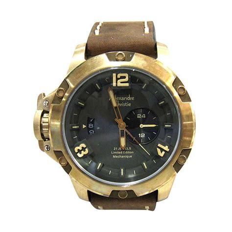 Alexandre Christie Ac6463m Jam Tangan Pria Chrono Original jual alexandre christie ac 6339 automatic bronzium limited original jam tangan pria brown