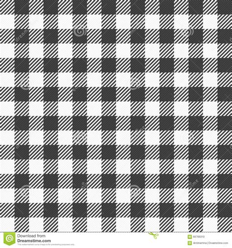 black and white plaid runner black and white plaid tablecloth stock vector image